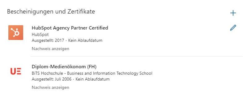 linkedin-bescheinigungen-und-zertifikate