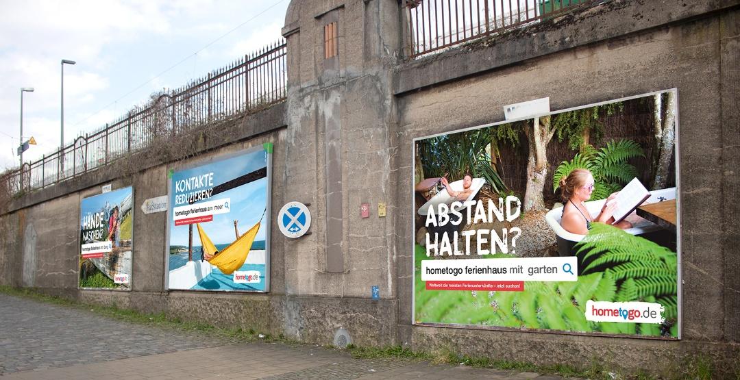 hometogo - Plakatkampagne Abstandsregelung