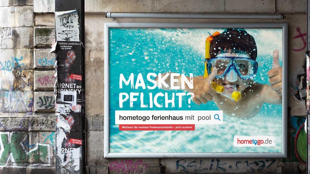 hometogo - Plakatkampagne Maskenpflicht